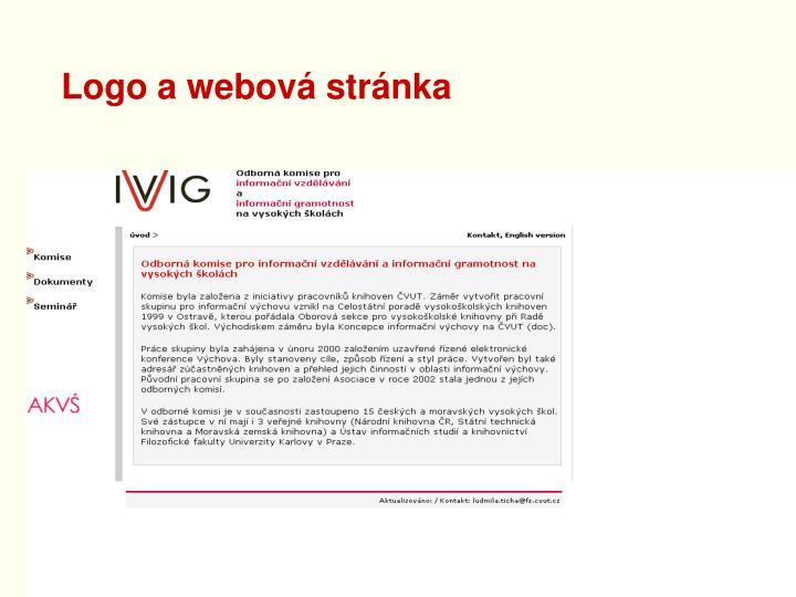 Logo a webová stránka