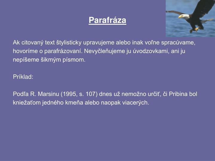 Parafráza
