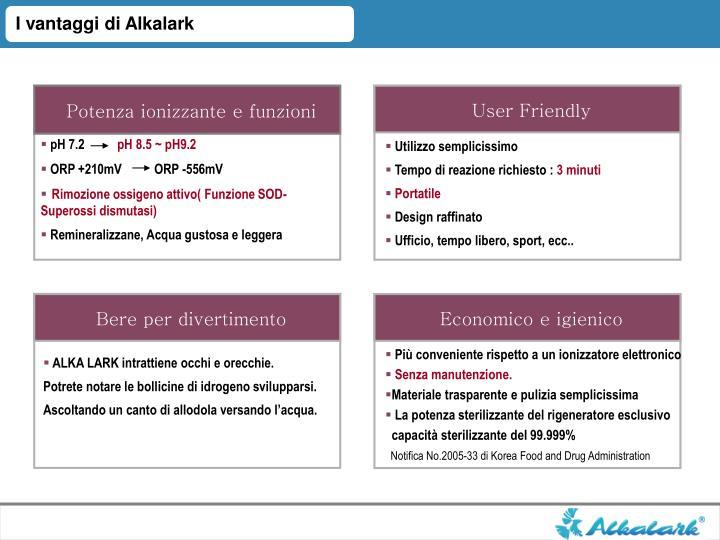 I vantaggi di Alkalark