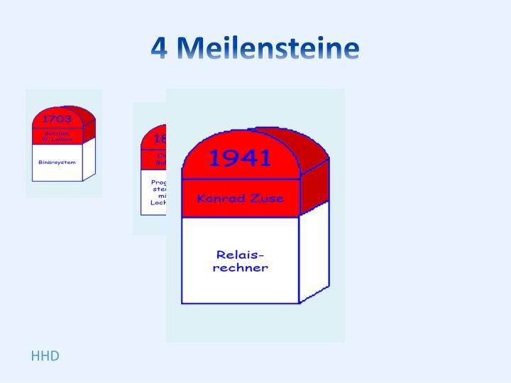 4 Meilensteine