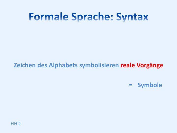 Formale Sprache: Syntax