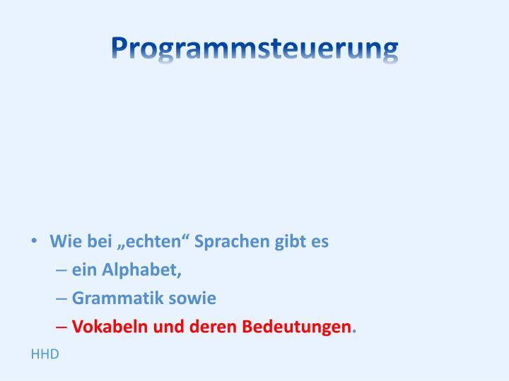 Programmsteuerung