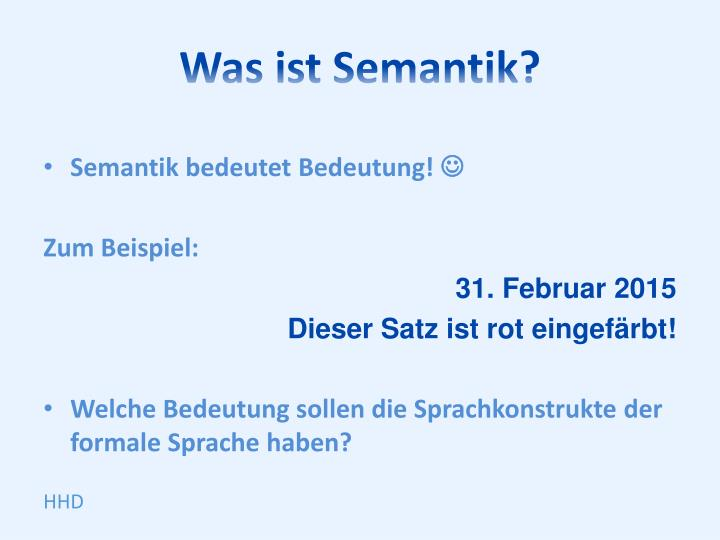 Was ist Semantik?
