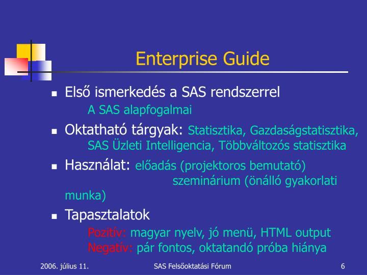 Enterprise Guide