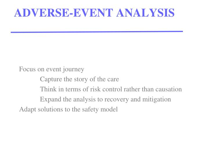 Adverse event analysis
