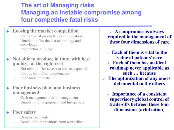 The art of Managing risks