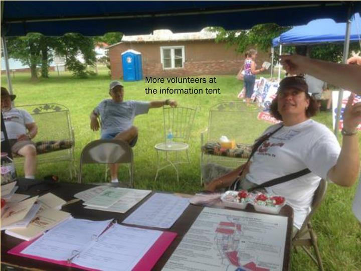 More volunteers at the information tent