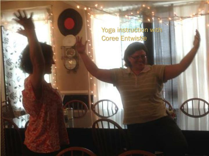 Yoga instruction with
