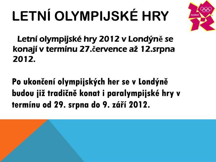 Letní olympijské hry