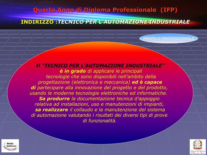 Quarto Anno di Diploma Professionale  (IFP)