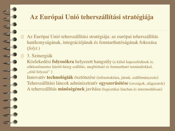 Az Európai Unió teherszállítási stratégiája
