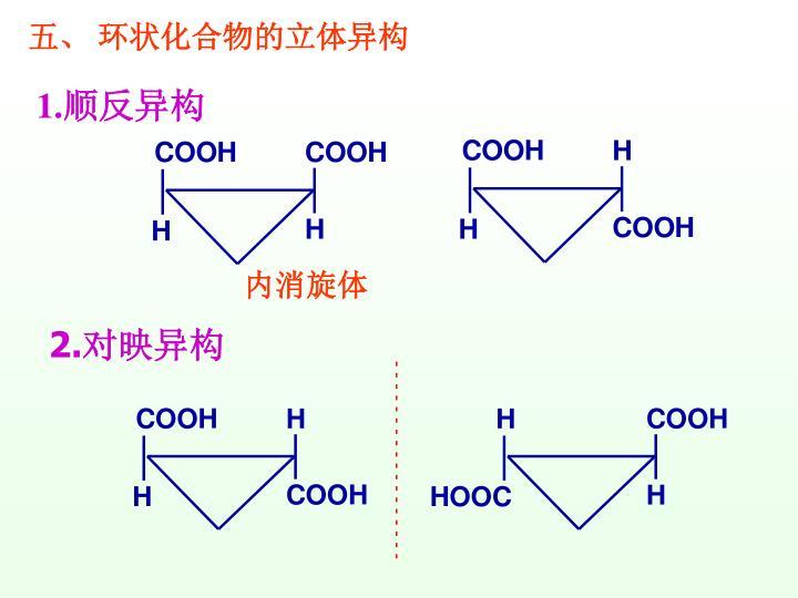 五、 环状化合物的立体异构