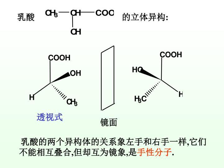 乳酸                                        的立体异构