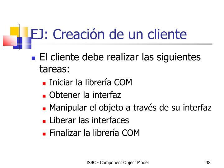 EJ: Creación de un cliente