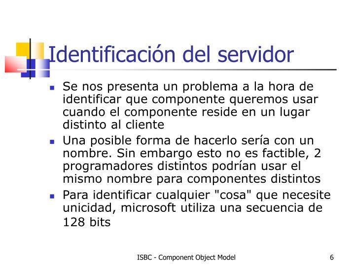 Identificación del servidor