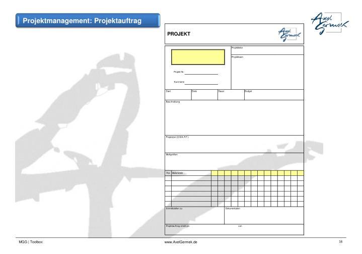 Projektmanagement: Projektauftrag
