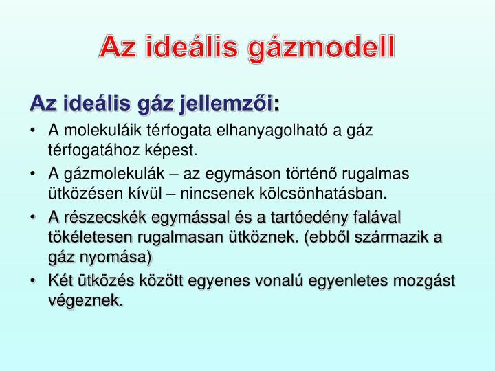 Az ideális gázmodell