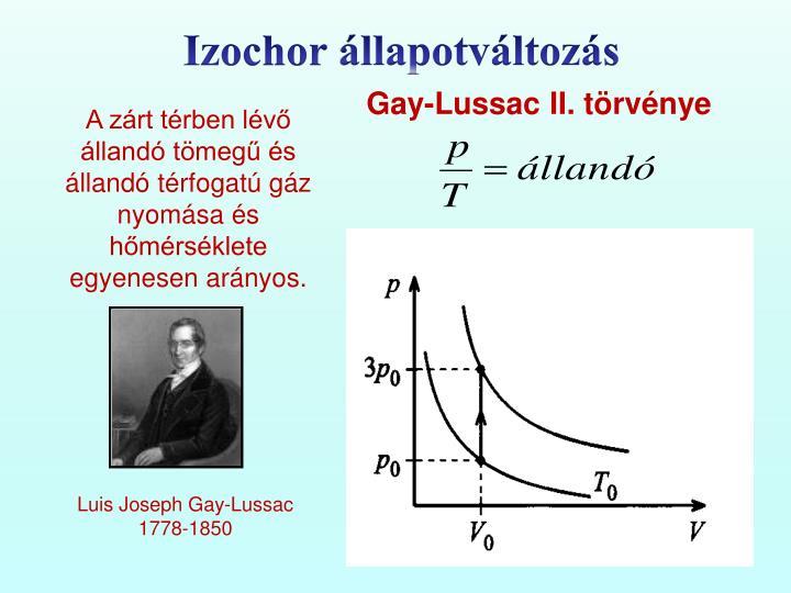 Gay-Lussac II. törvénye