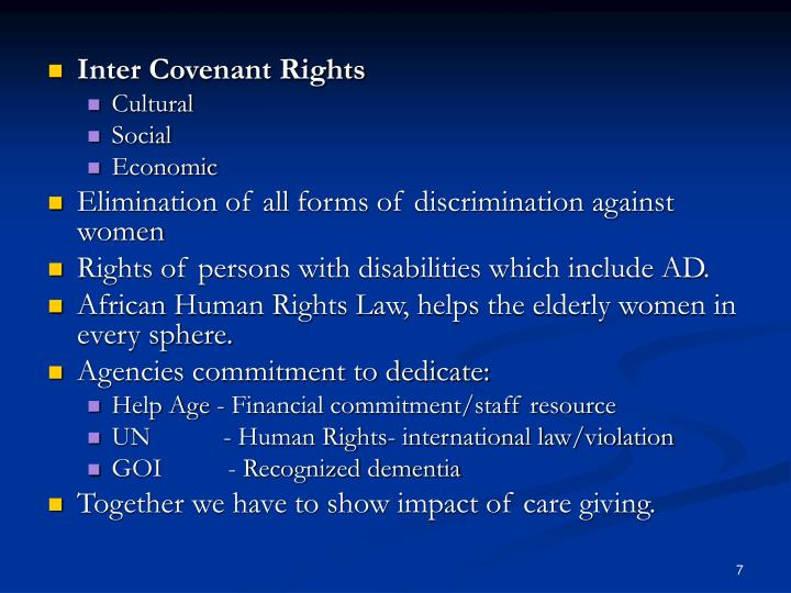 Inter Covenant Rights