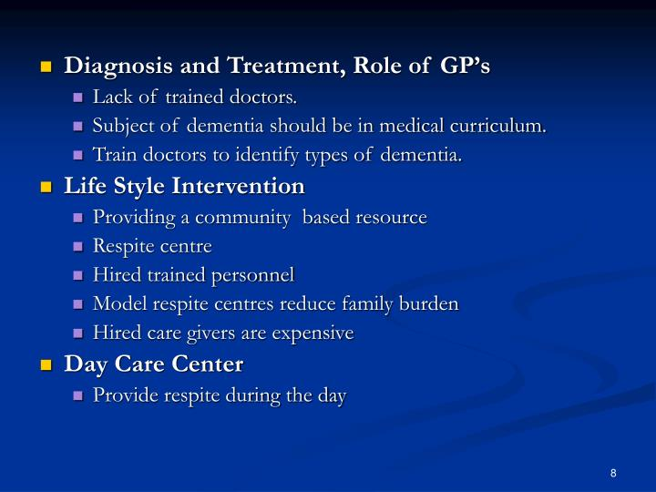Diagnosis and Treatment, Role of GP's