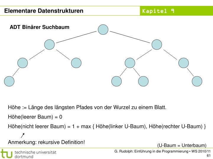 ADT Binärer Suchbaum