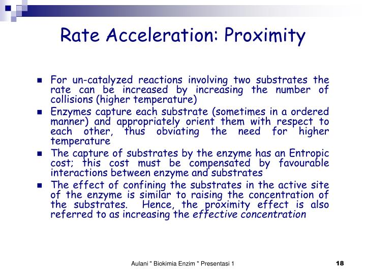 Rate Acceleration: Proximity
