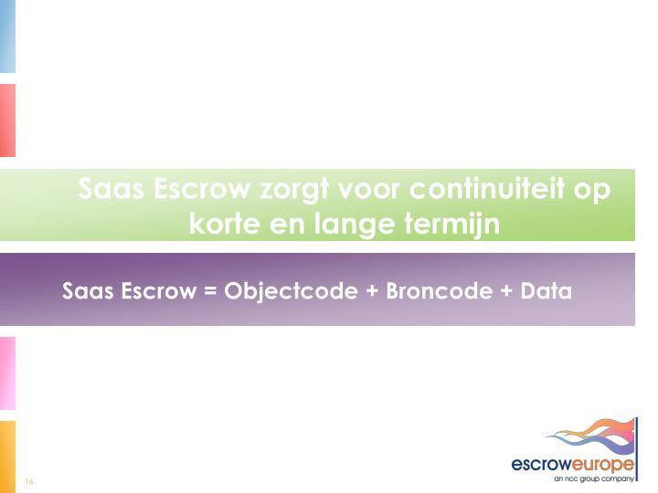 Saas Escrow zorgt voor continuiteit op korte en lange termijn