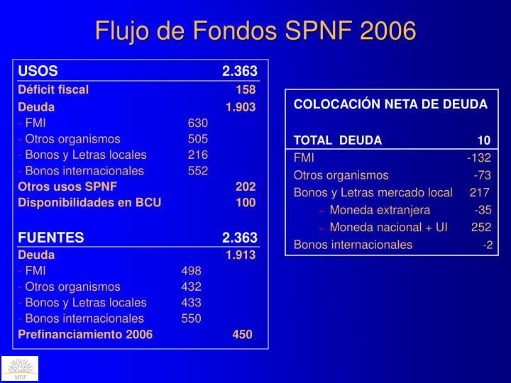 Flujo de Fondos SPNF 2006
