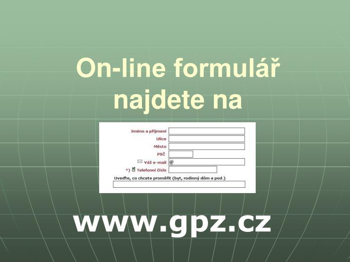 On-line formulář