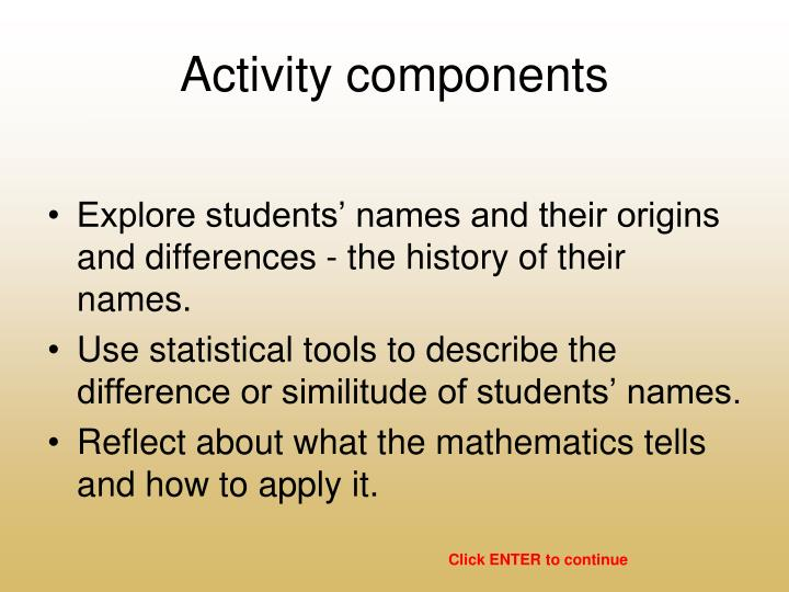 Activity components