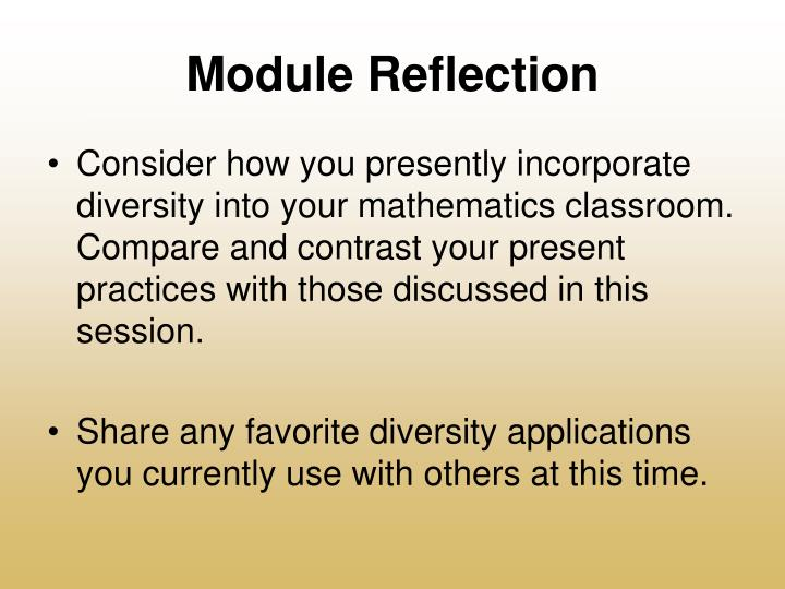 Module Reflection