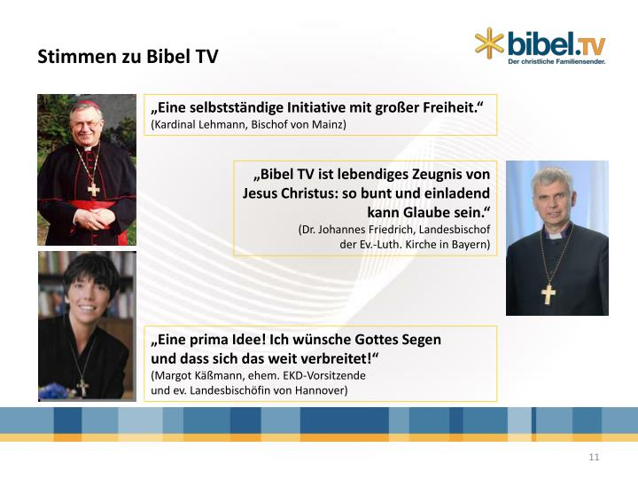Stimmen zu Bibel TV