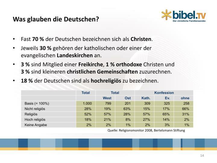Was glauben die Deutschen?