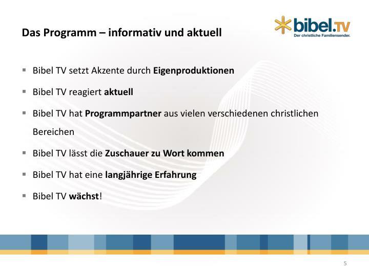 Das Programm – informativ und aktuell