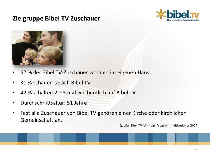 Zielgruppe Bibel TV Zuschauer