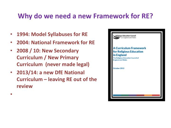Why do we need a new framework for re