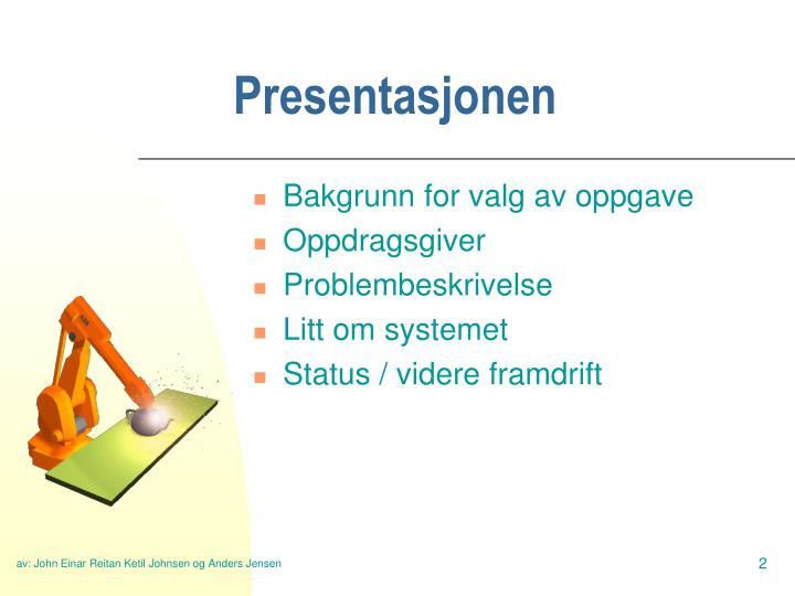 Presentasjonen