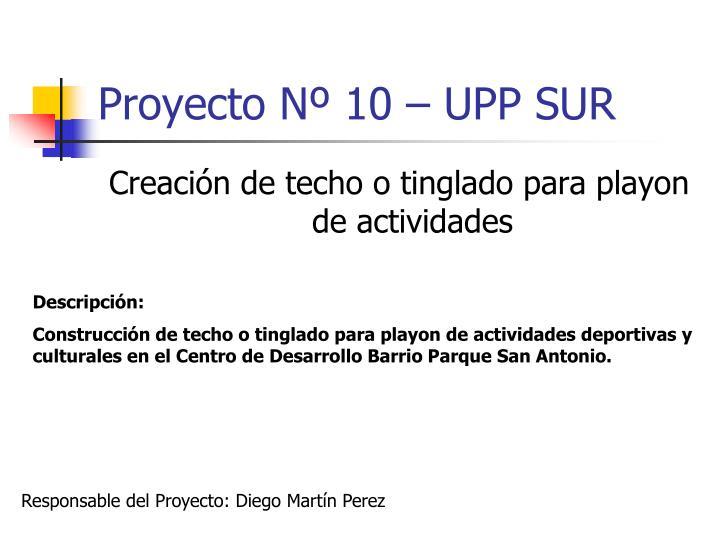 Proyecto Nº 10 – UPP SUR