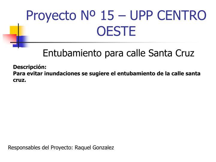 Proyecto Nº 15 – UPP CENTRO OESTE