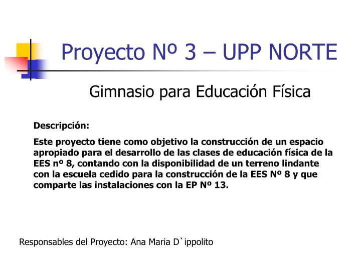 Proyecto Nº 3 – UPP NORTE