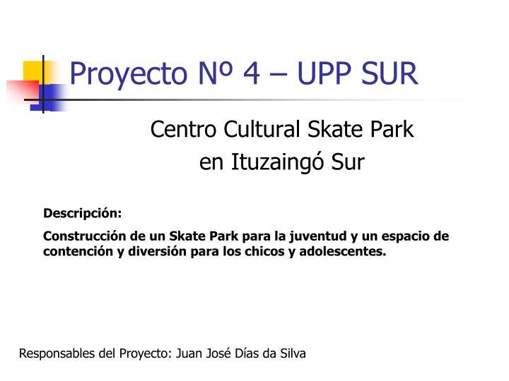 Proyecto Nº 4 – UPP SUR