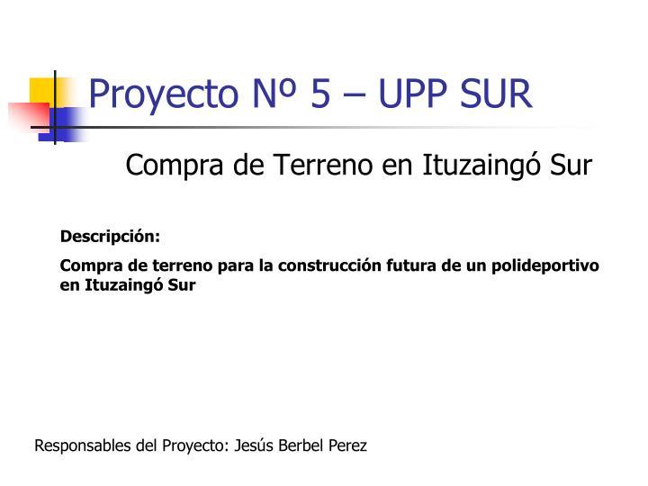 Proyecto Nº 5 – UPP SUR