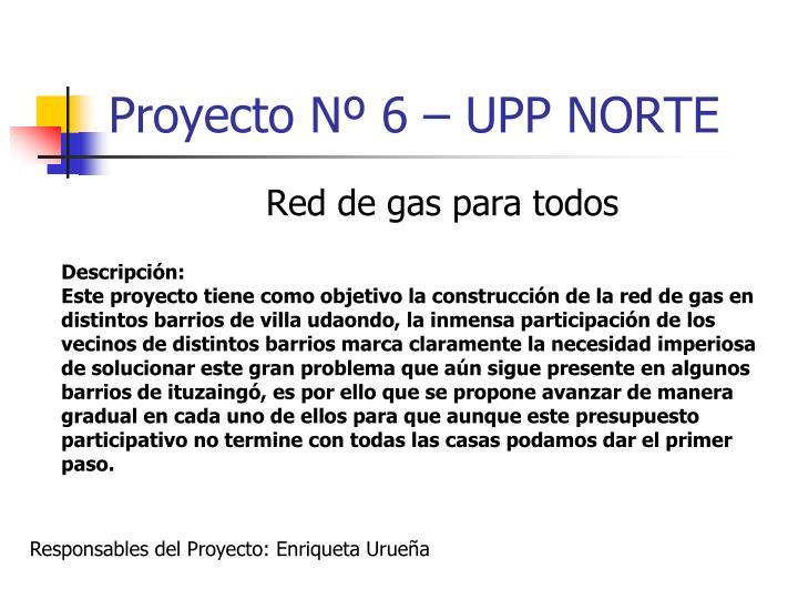 Proyecto Nº 6 – UPP NORTE