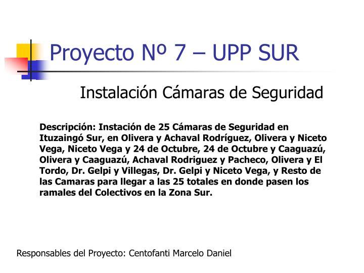 Proyecto Nº 7 – UPP SUR