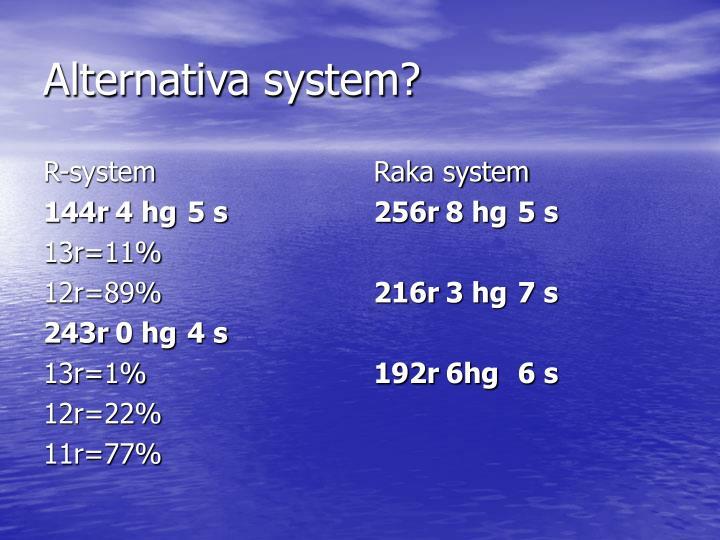 R-system