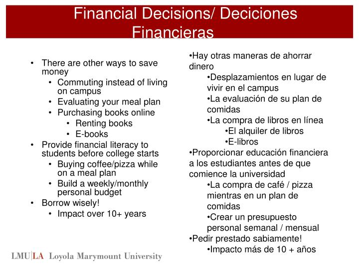 Financial Decisions/