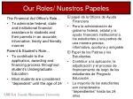 our roles nuestros papeles