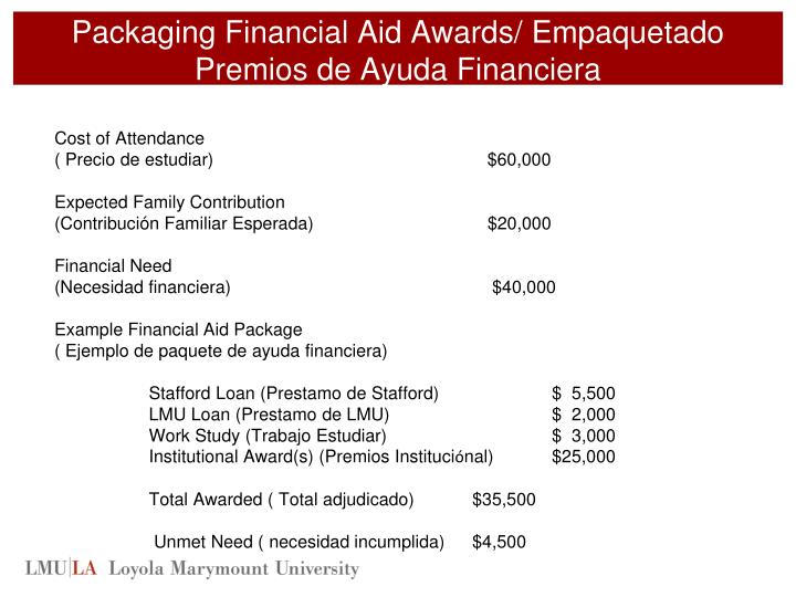 Packaging Financial Aid Awards/