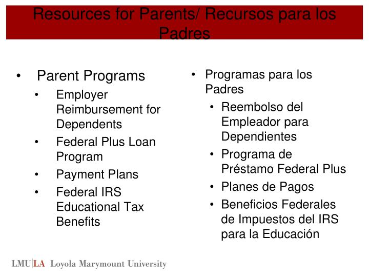 Resources for Parents/