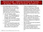 sources of aid california cal grant b fuentes de ayuda beca b de cal grant de california